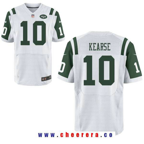 mens new york jets 10 jermaine kearse white road stitched nfl nike elite jersey