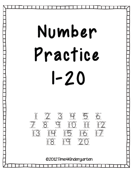 Number Practice for Kindergarten product from Time-4
