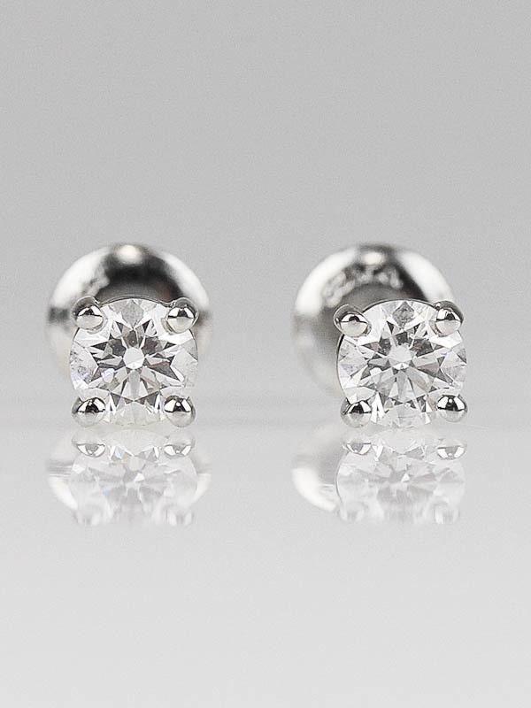 cbdce3b5e Yoogi's Closet - Tiffany & Co. Platinum and Diamond Stud Earrings - Jewelry  - TCO121214B