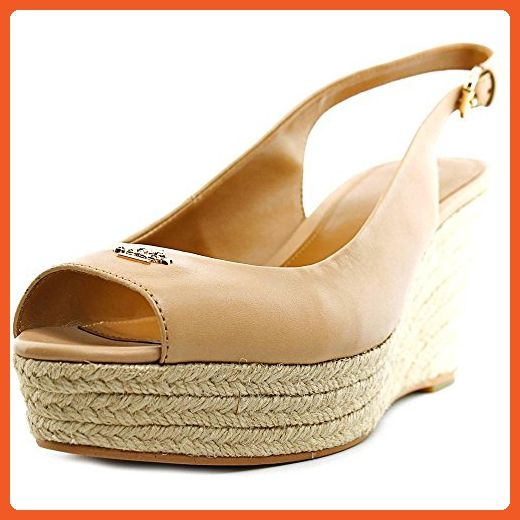 afb14729f0a84 Coach Ferry Women US 8.5 Nude Wedge Heel - Sandals for women ...
