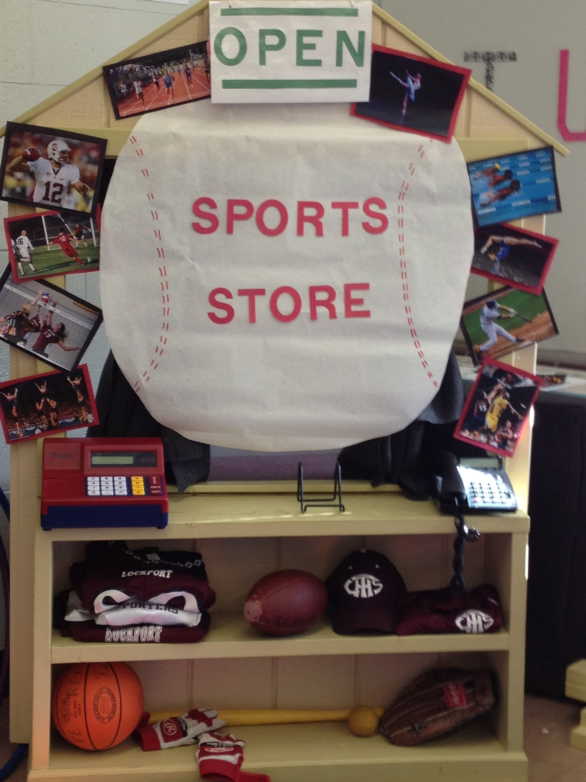 Dramatic Play Area With A Sporting Goods Store Theme