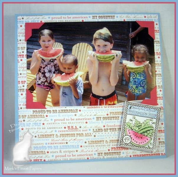 Planted With Love Scrapbook Page