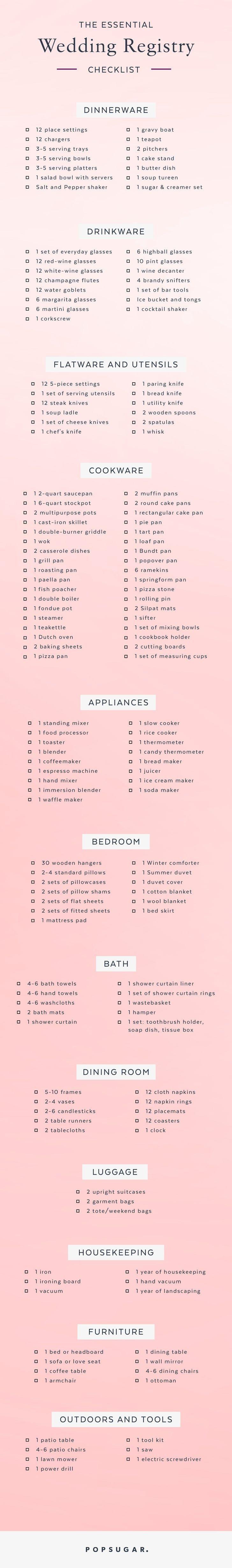 Your Essential Wedding Registry Checklist -
