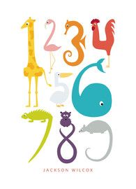 Numbered Animals; new line of Minted artwork for kids