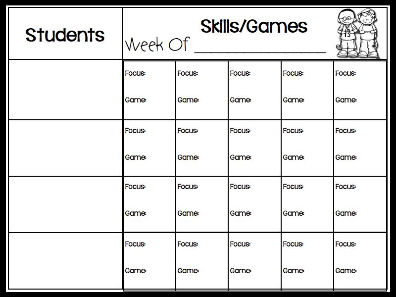 Lesson Plan Template For Guided Math Groups {Free} | Kinderland