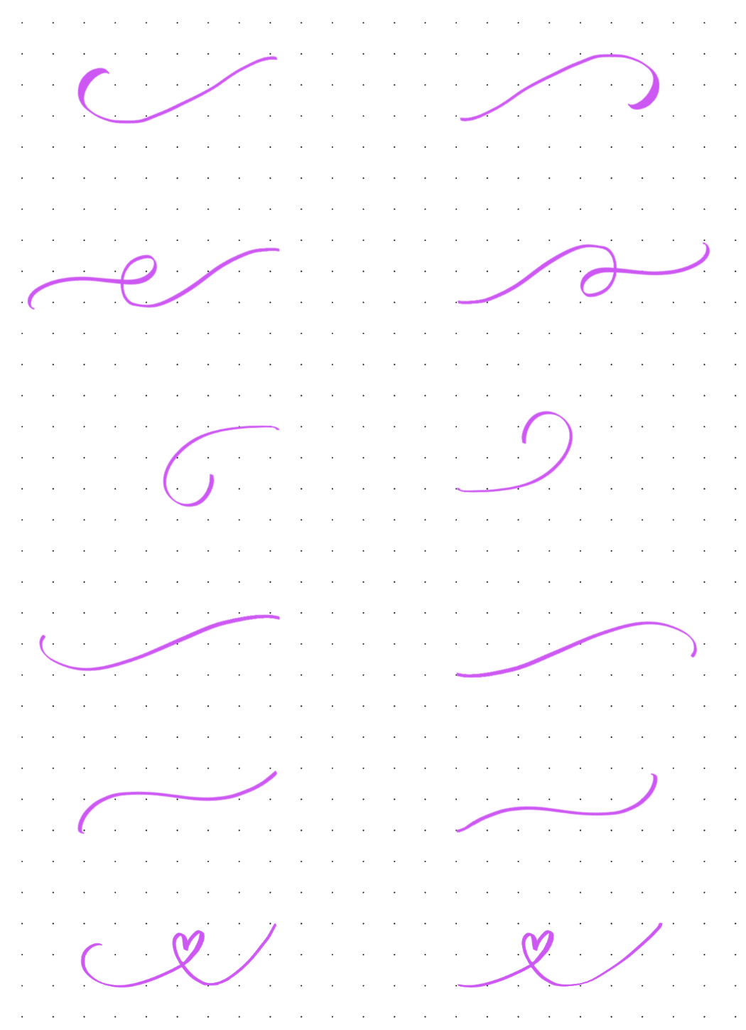 How To Do Calligraphy Flourishing Free Worksheets