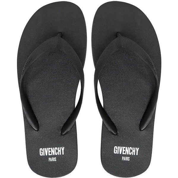 Givenchy Men Logo Printed Rubber Flip Flops (20.460 RUB) ❤ liked on Polyvore featuring men's fashion, men's shoes, men's sandals, men's flip flops, black, mens shoes, mens rubber flip flops, mens black flip flops, mens black shoes et mens sandals