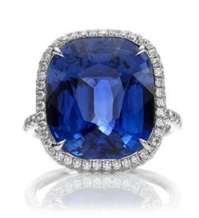 Do you like this diamond and sapphire ring? #stevenstone