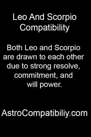 Zodiac signs leo and scorpio
