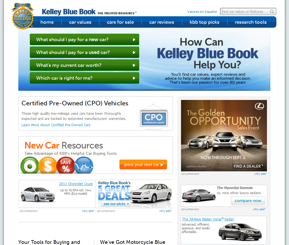 Blue Book Car Values New And Used Prices Kelley Autos Post