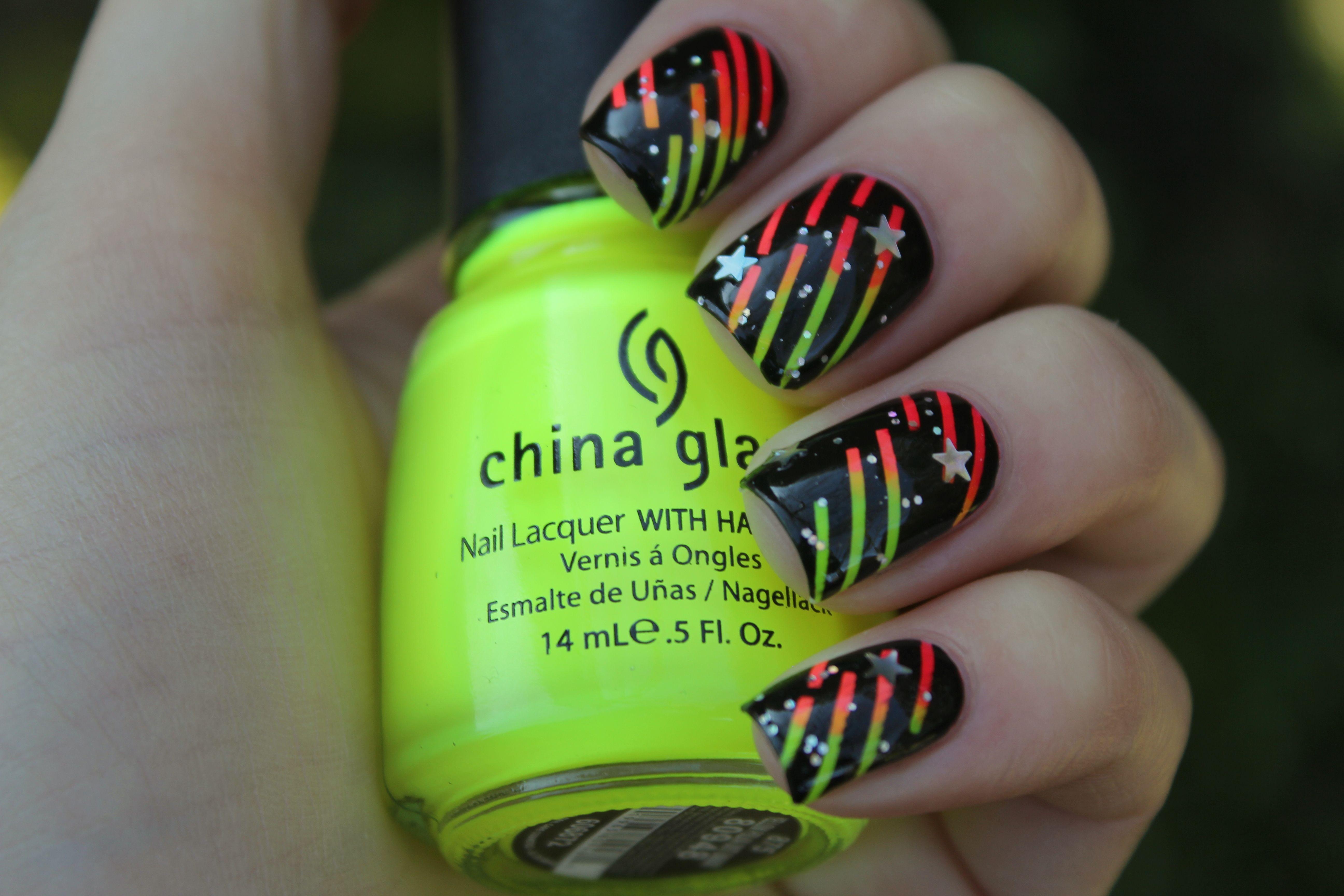 NOTD – Neon striber!   Pinterest