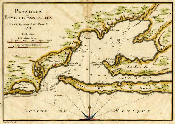 Plan de la Baye de Pansacola. 1744