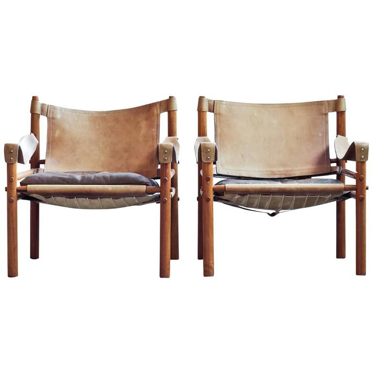 Pair Of Leather Sirocco Safari Chairs By Arne Norell | From A Unique  Collection Of Antique
