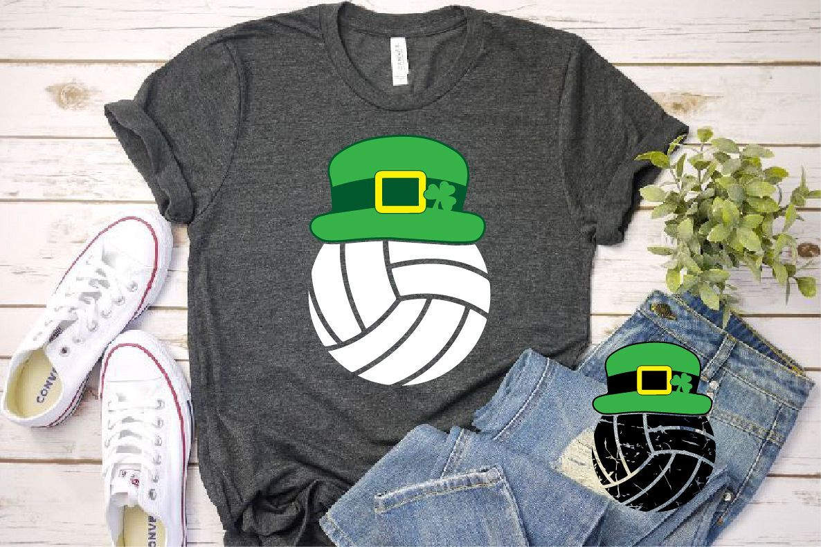 Volleyball Leprechaun St Patricks Day Svg Shamrock 1191s Volleyball Leprechaun St Patricks Day