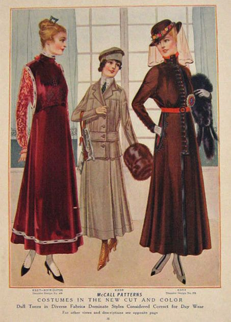 1915 Women's Fashion Print ~ Costumes in New Cut & Color ...