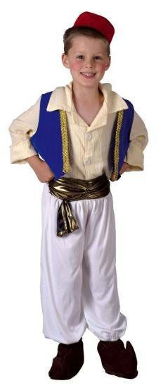 Girls Persian Princess Costume Fancy Dress Aladdin Jasmine Outfit Age 6-8 NEW
