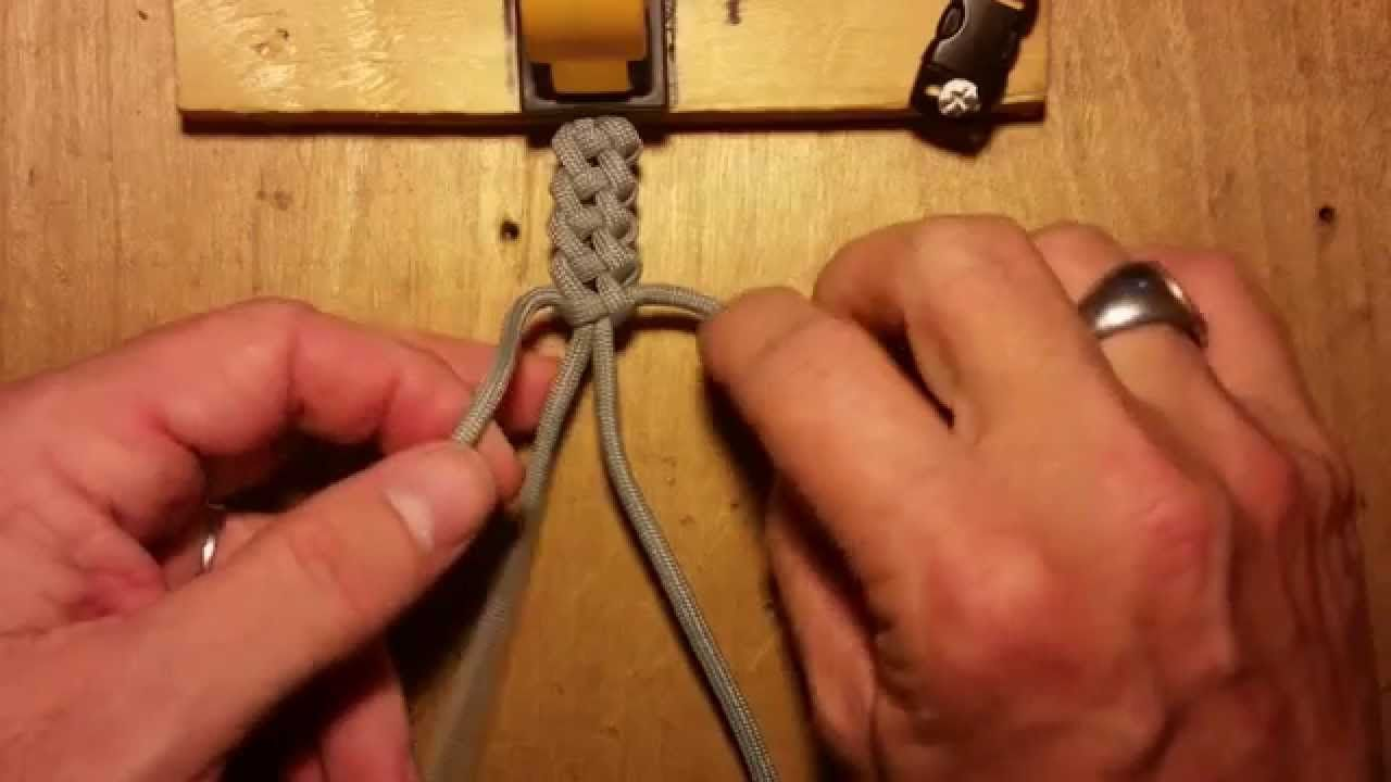 Knot Tutorial 3 Of 3 Vertical Crown Knot Or Double Crown Sinnet