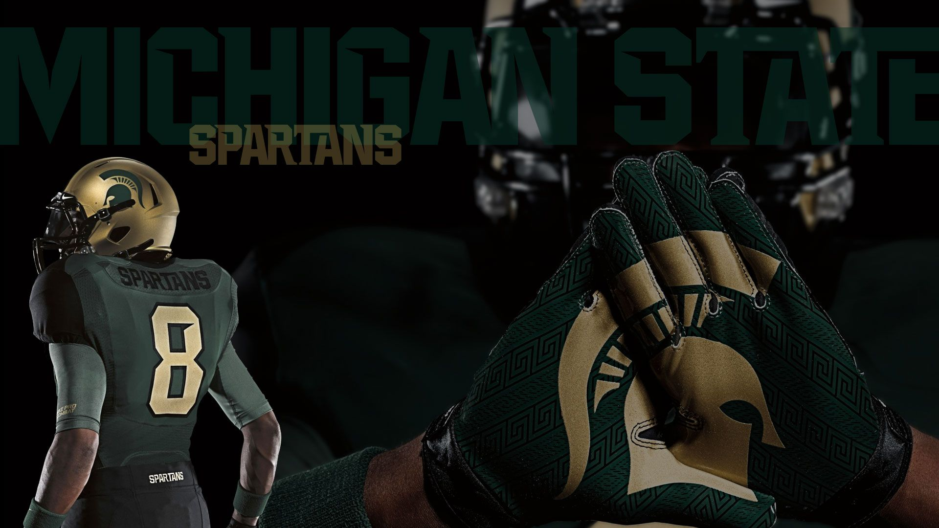 The michigan state spartans 39 nike pro combat football uniforms fancred challenge lookin - Michigan state football backgrounds ...