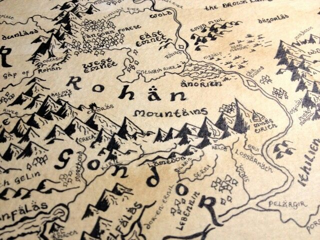 lord of the rings the hobbit lotr gondor mordor tolkien maps middle earth the shire maybe i