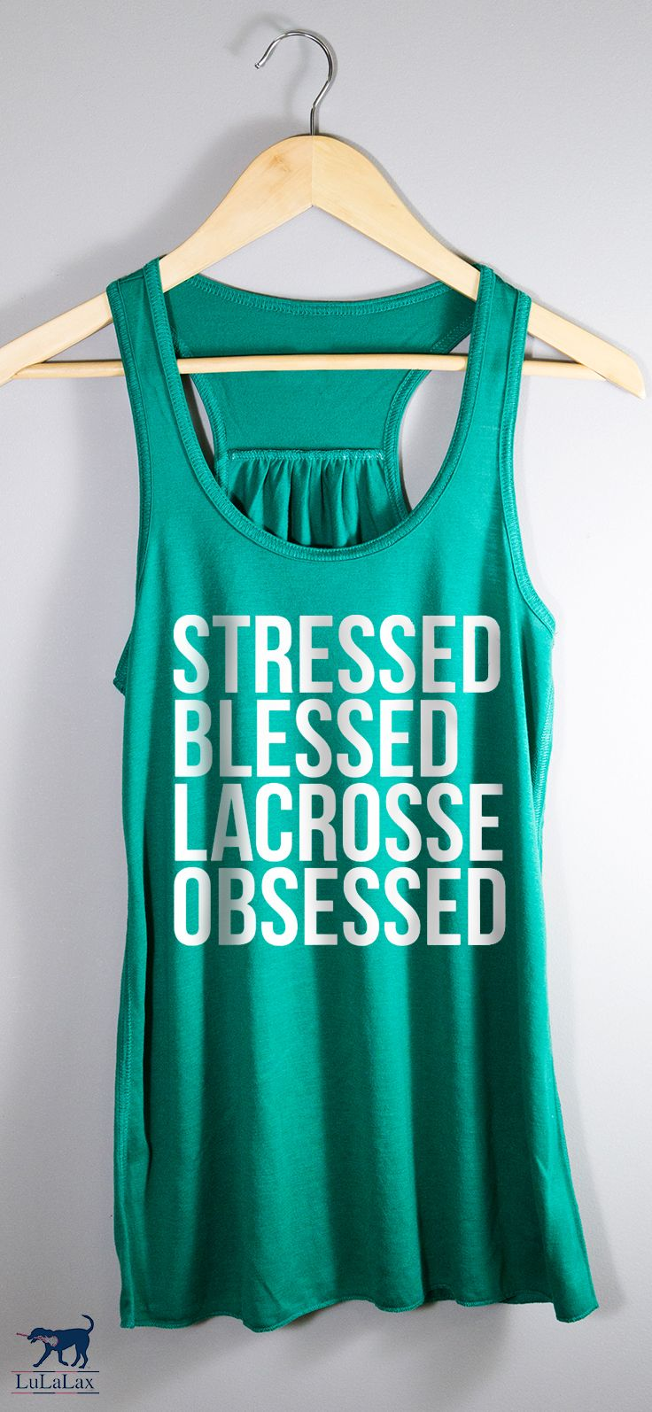 Rep the #lacrosselife with this fun tank, celebrating the lacrosse lifestyle! Perfect for a player, parent, or fan!