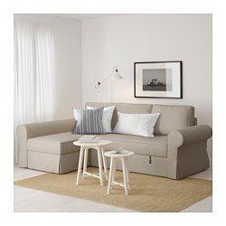 BACKABRO Divano letto con chaise-longue, Tygelsjö beige   Pinterest
