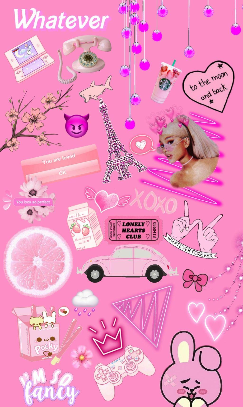 Freetoedit Tumblr Pink Background Wallpaper Girly Pink Wallpaper Backgrounds Pink Wallpaper Pink Aesthetic