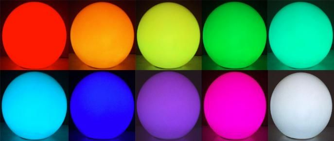 Color Changing Led Light Rainbow Orb Battery Powered Led Color