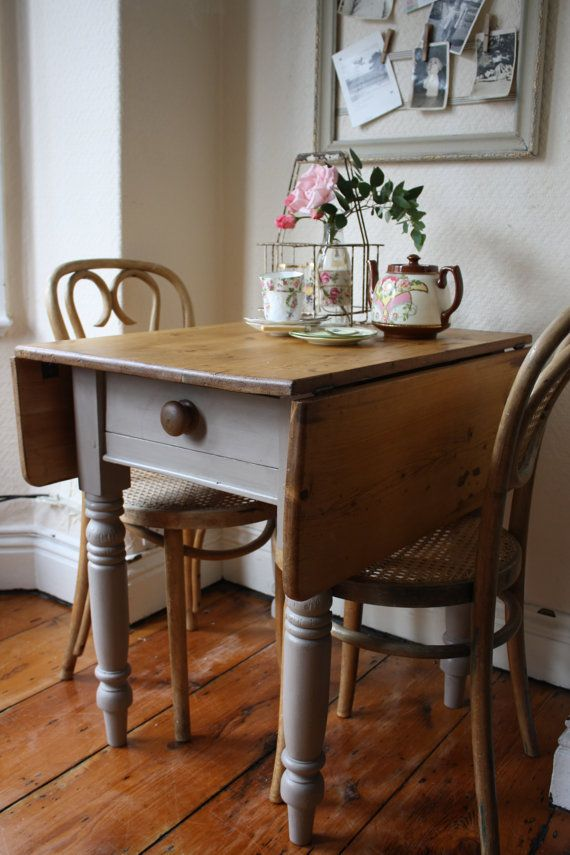 Small Kitchen Drop Leaf Table Restored vintage pine drop leaf table with single drawer in mousse restored vintage pine drop leaf table with single drawer in mousse grey small kitchen workwithnaturefo