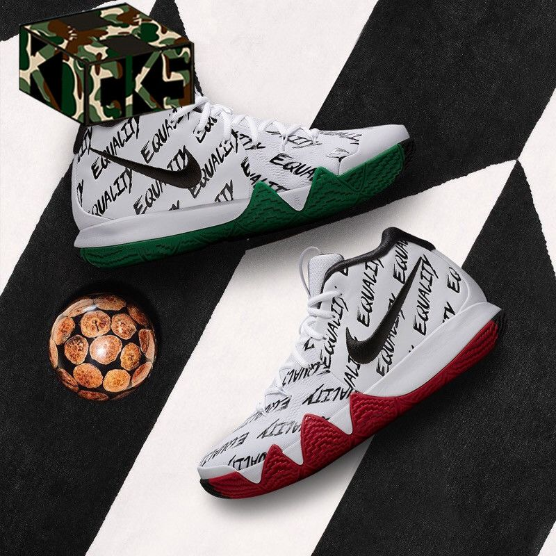 a76a386668cc NIKE KYRIE 4 BHM EP BLACK HISTORY MONTH EQUALITY WHITE IRVING AQ9231 900   basketball