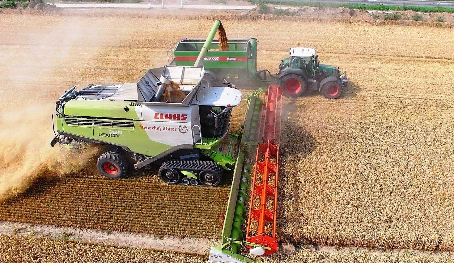 Mahdrescher Claas Lexion 780 Terra Trac Fendt Weizenernte Biggest Comb Mahdrescher Fendt Traktoren