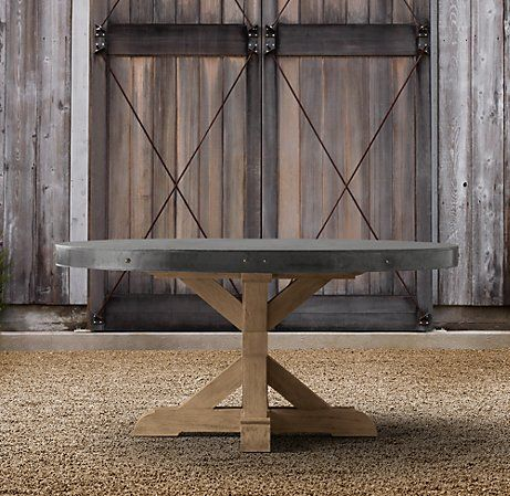 Awesome The Concrete Series By Restoration Hardware Is ALL Spectacular . But The  Round Pedestal Table Just Seem To Beckon To Me. This Piece Has It All And  Makes A ...