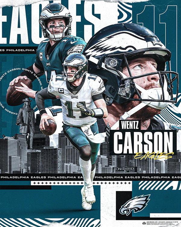 Carson Wentz Philadelphia Eagles On Behance Philadelphia Eagles Sports Graphic Design Carson Wentz