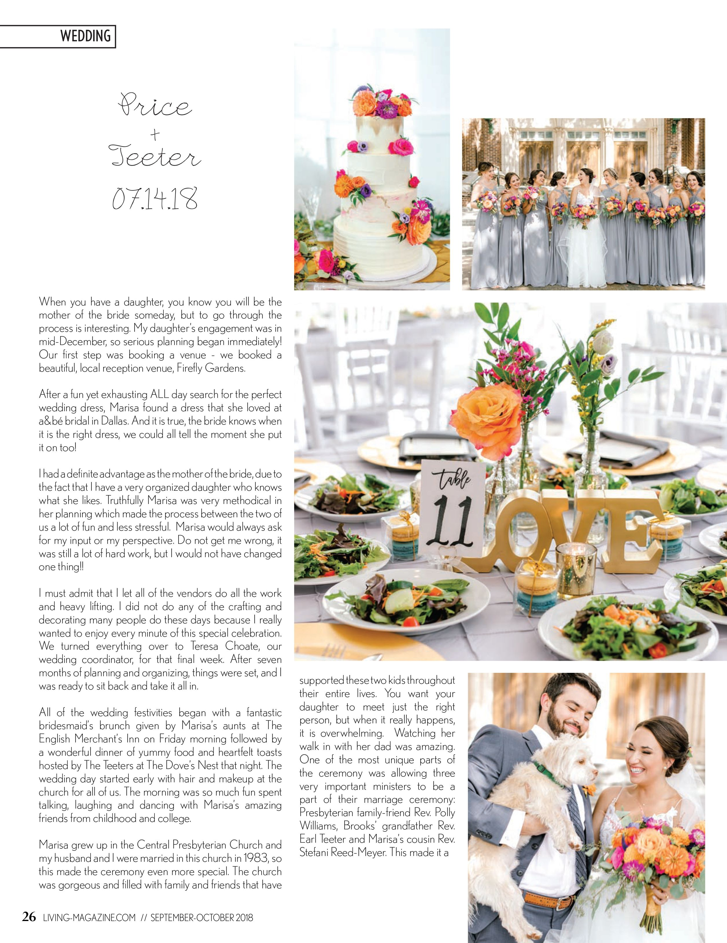 Wedding decorations at church november 2018 September  Ellis County Living Magazine  The Wedding Issue
