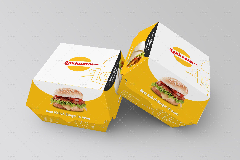 Download Burger Box Mockups | Burger box, Box mockup, Food box ...