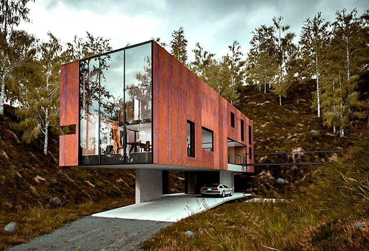 Dit waanzinnige moderne huis van een fotograaf ligt in een oude