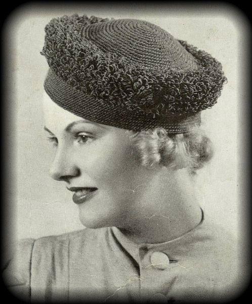Celebrating Biba The Deco Haus: Original 1938 Art Deco Style Crochet Pattern Book For Hats