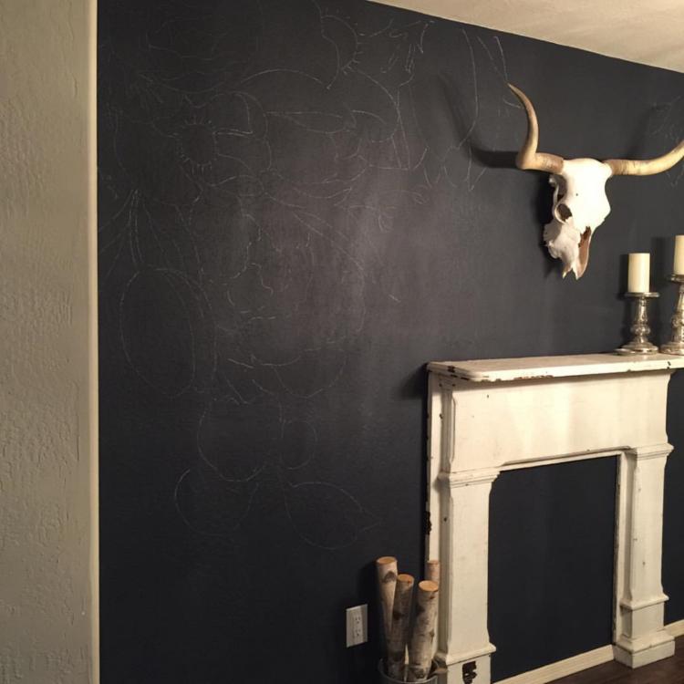 Faux Wallpaper: Gold Paint Marker Mural   gracelaced.com