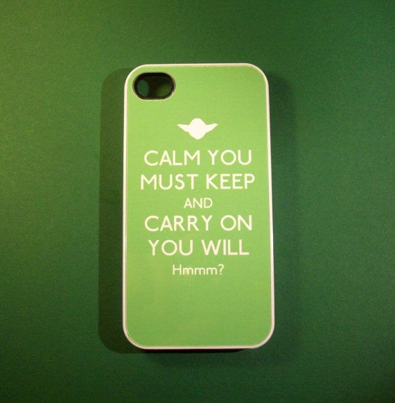 In honor of #StarWars being crowned our #BestSummerMovieEver, here's some of the best SW swag out there - Star Wars Yoda inspired Keep Calm iPhone 4 / 4S case