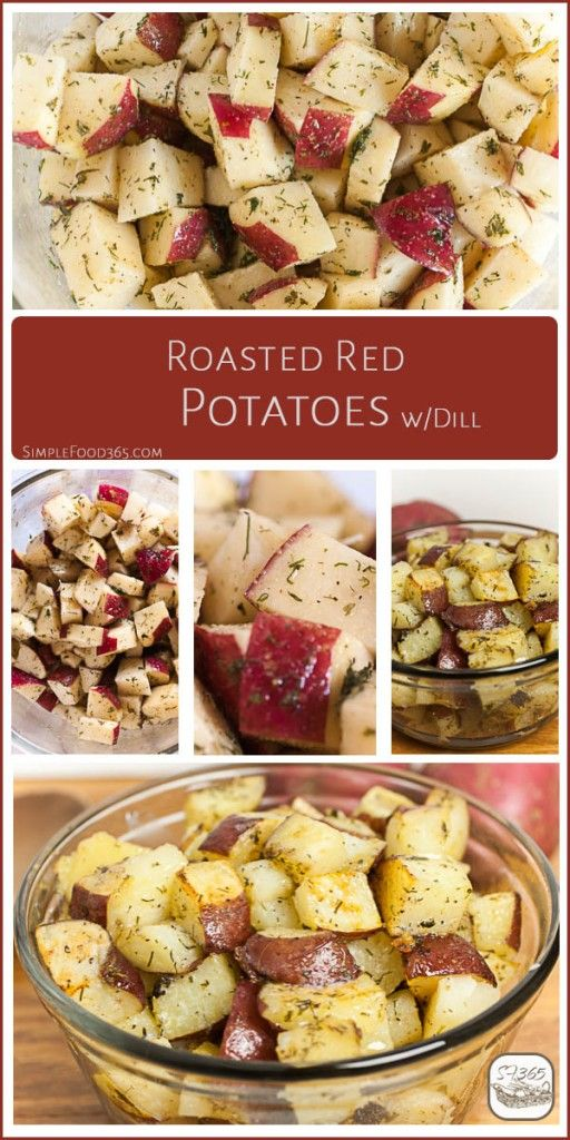 These Roasted Red Potatoes are great as a side dish for breakfast or dinner. They pair well with eggs, steak, or chicken, and are a favorite in our home. Plus, they are very easy to pull together. Get the recipe on the blog and surprise your family with this dish tonight! | SimpleFood365.com
