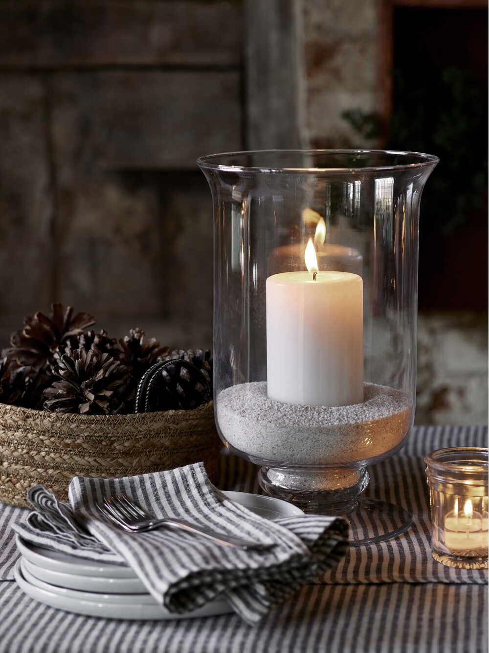 Large Outdoor Candle Holders | Glass Hurricane Lamp