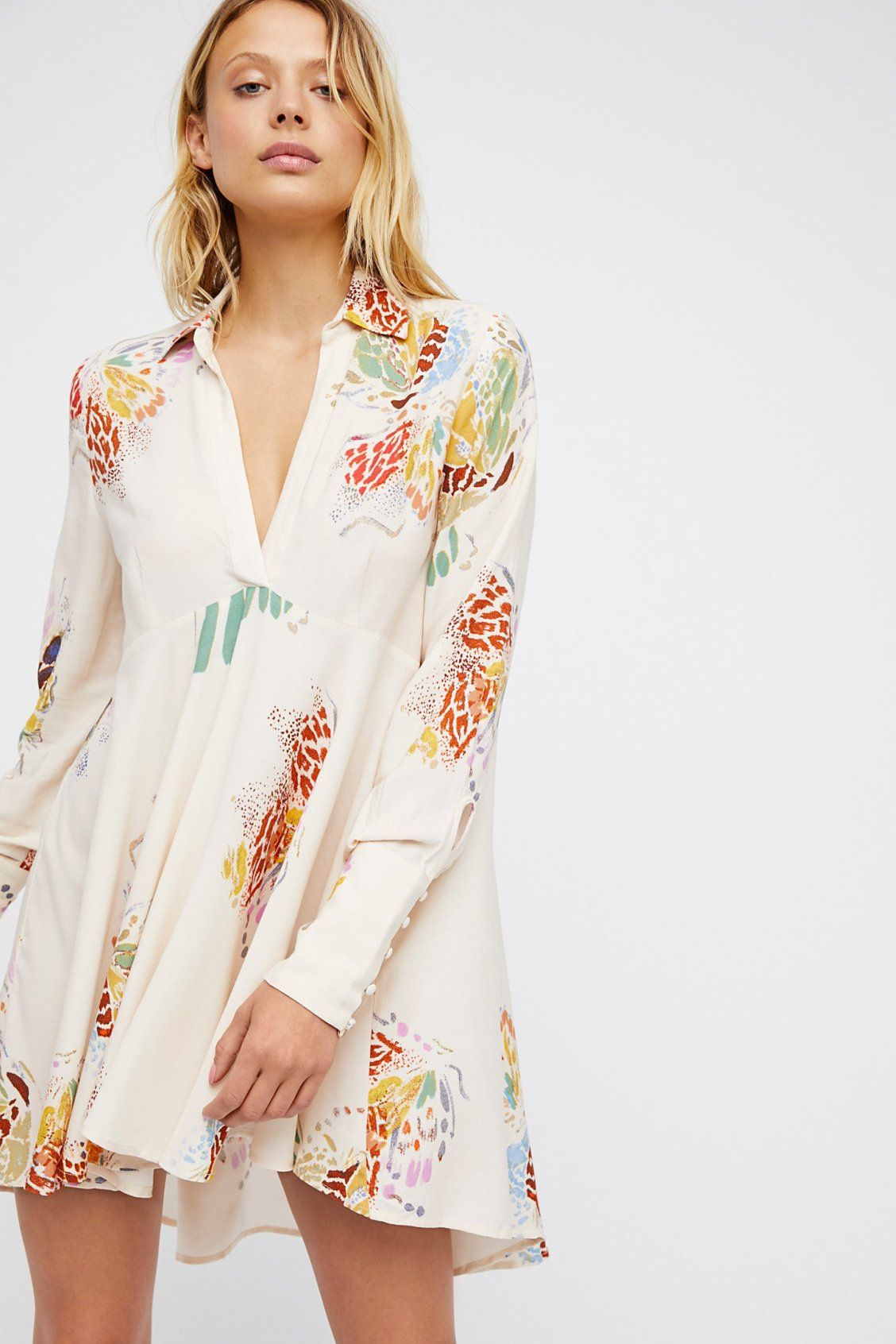 1ff55ef12c48 Field Of Butterflies Tunic | Free People Girl Sleeves, Summer Shirts, Boho  Fashion,