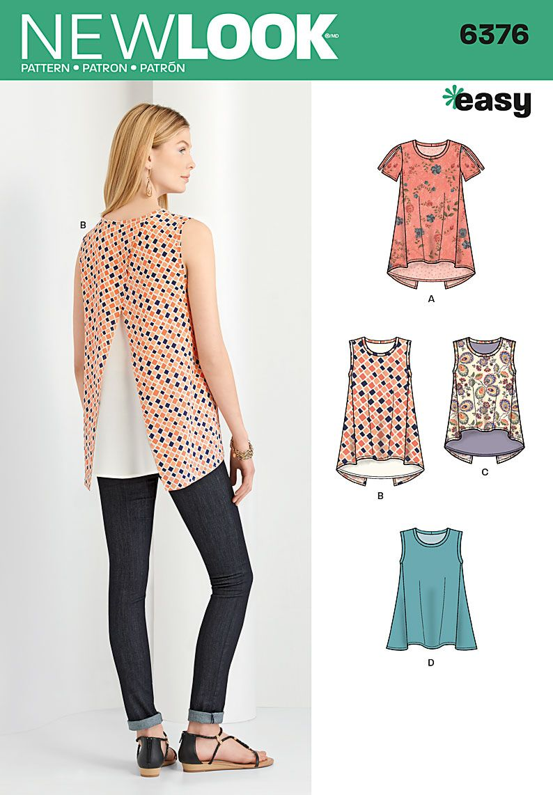 Simplicity creative group misses tops with length variations sew pattern jeuxipadfo Images