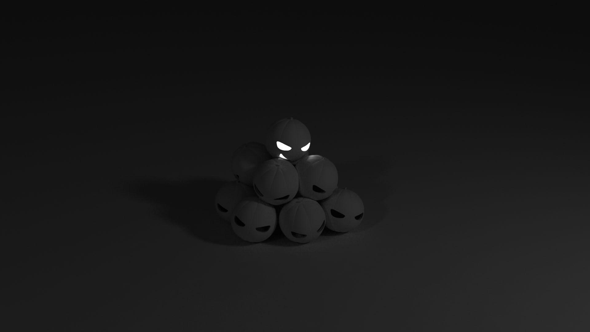 Черные обои на компьютер высокого качества