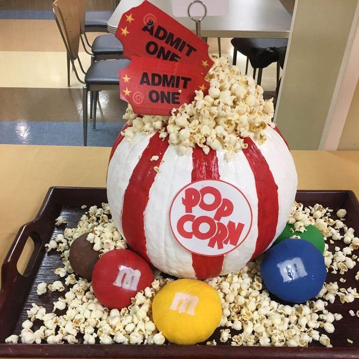 Creative Painted Pumpkins: Save This Halloween Pumpkin Carving Idea To Make A Popcorn
