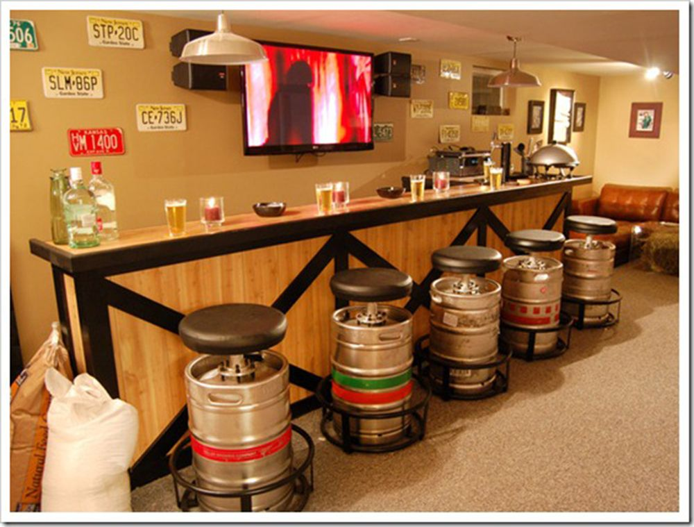 This Man Cave Bar Has The Best Stools 50 Awesome Man