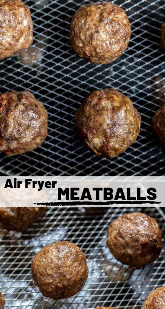 Want THE BEST meatballs? This Air Fryer Meatballs Recipe is for you. These air fried beef meatballs are juicy, perfectly round and done in 15 minutes! #airfryerrecipes #airfryerfood - recipes for an air fryer - air fryer recipes - healthy air fryer recipes - easy air fryer recipes #airfryerrecipes