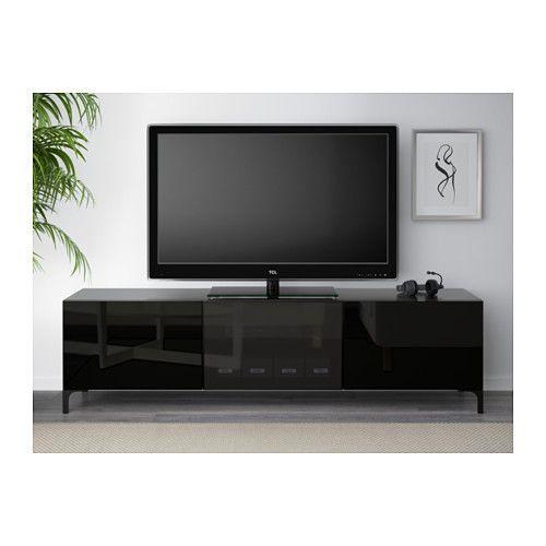 Tv Aufsatz Ikea bestå tv bank mit schubladen und tür weiß selsviken hochglanz