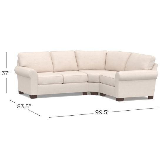 Awesome Buchanan Right 3 Piece Wedge Sectional Sectional Sofas Onthecornerstone Fun Painted Chair Ideas Images Onthecornerstoneorg