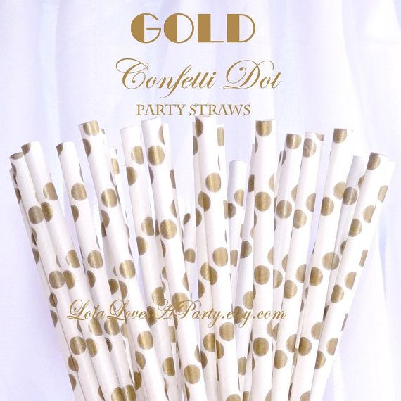 12 pcs gold glitter bee black /& white paper straw for baby shower birthday bachelorette party