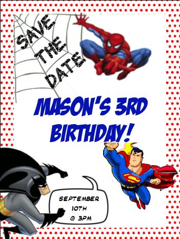 superhero save the date invitations | of it i sent out a save the date via email and had every intention of ...